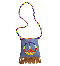 HIPPIE HIPPY HANDBAG FANCY DRESS ACCESSORY 1960's 1970's CND