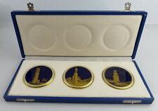 3 Medaillen Weimar Porzellan Made in Germany Orden2737