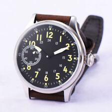 44mm Corgeut black sterile dial luminous 6497 hand winding movement mens watch