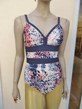 Avon - Womens Navy / Grey / Multi Mix One Piece Swim-suit - size 10/12