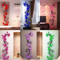 3D Fleur AutocollantVinyle Décor Art Maison Salon Mur Autocollant Amovible Mural
