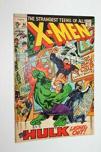 Uncanny X-Men #66, FN/VF 7.0, Hulk; Final New Story Before Reprints