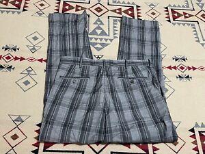 Polo Golf Ralph Lauren Dress Pants - Wool Elastane -  Plaid Gray - 34x30 D0