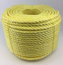 6MM GIALLO polipropilene corda x 500 metri, Poly rotoli, ECONOMICI Nylon