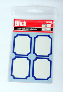 Blick Labels 4050 White with Blue Border Pack 28