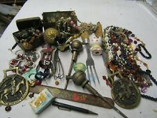 F//LOT BROCANTE COLLECTION BIJOUX DIVERS