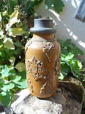 Ancien pot à tabac en grès XIXe décor d'arabesques, idée pot épices ...