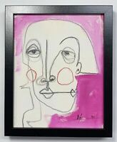 """PAINTING ACRYLIC/PASTELS ON CANVAS PANEL(FRAME INCLUDED)CUBAN ART 8""""X10""""By LISA."""