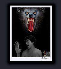 An American Werewolf In London Horror Art Print Singed by Artist Tom Ryan