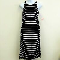 Liz Lange Maternity Black/White Stripe Dress Knee Length Sleeveless- MSRP29.99