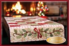 HOLLY & BERRIES TABLE RUNNER Shabby Fabrics Table pattern Quilting APPLIQUE