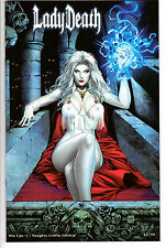 LADY DEATH PIN UPS #1 NAUGHTY COFFIN EDITION LTD 99 MIKE KROME VARIANT UNSIGNED
