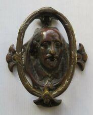 WILLIAM  SHAKESPEARE  <>  ANTIQUE  BRONZE  DOOR  KNOCKER  <>  USED