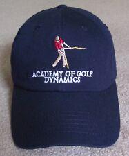 NEW~ACADEMY OF GOLF DYNAMICS~BALL CAP/HAT~IMPERIAL~AUSTIN TEXAS LOGO PROMO~NAVY