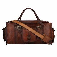 Large Men's Leather Handmade Duffle Luggage Weekend Gym Overnight Travel Bag