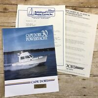 Vintage Boat Dealer Sales Brochure Cape Dory Power Yacht 1990 Price List Boating