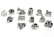 13 Silver color metal Charms Large Hole Chamilia Pandora