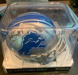 Matthew Stafford Signed Detroit Lions Riddell Mini Helmet autographed