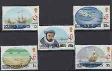 SOLOMON ISLANDS, BRITISH COLONIES, SHIPS, BOATS, STAMPS, 1992 Mi. 774-778 **