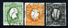 Portugal 1870-84 King Luis Straight Label Group Perf. 13 1/2 SG 106, 120 & 128 VFU