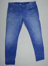 EUC RRP $299 Mens G-Star Raw '3301 LOW TAPERED' PAINT LIGHT AGED Jeans W34 L32