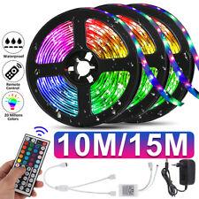 49.2/32.8ft Waterproof 3528 SMD 300 LED Flexible Light Strip 44 Key Remote Plug