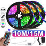 49.2/32.8ft Waterproof 3528 SMD 300 LED Flexible Light Strip 44 Key Remote Plug