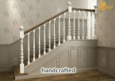 Victorian Banister Newel Post for Staircase (Set of 2) hand carved wood