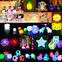 Bright Light Lemon Rabbit LED Night Light Sensor Baby Bed Room Lamp Decor Gift