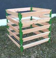 Alu Holz Komposter grün 90 x 90 x 100 Kompostbehälter Gartenkomposter V2A