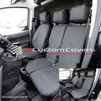 FORD TRANSIT CONNECT 2016 TAILORED & WATERPROOF FRONT SEAT COVERS - BLACK 119