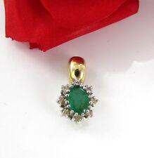 Anhänger mit Diamanten und Smaragd 0,7 ct und  585/ 14kt Gold