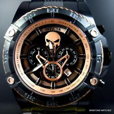 Invicta Marvel Punisher Speedway Viper Rose Gold Tone Black Steel 52mm Watch New