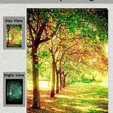 Trees of life, Glow in the dark painting canvas, Modern wall art print