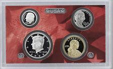 2009 90% SILVER GEM PROOF DCAM 4 COIN SET lincoln kennedy+