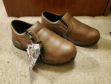 Men's Work Shoes McRae Boots MR81704 Size 9 wide w Brown Composite Safety Toe