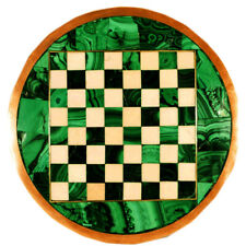 """15""""x15"""" Chess Table Top Marble semi precious stones Inlay Home Decor & Gift"""