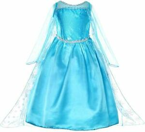 Kids Cinderella Princess Fancy Dress Up Girl Costume Outfit Christmas Party Gift