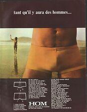 Publicité HOM  sous-vetements slip  Homme underwear men vintage ad 1972 - 6i