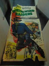 Charles Starrett Whirlwind Raiders 3-Sheet Movie Poster #N2022