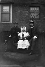 THEATRICAL GROUP #7 Antique Photographic Glass Negative (1910s Comedy Costumes)