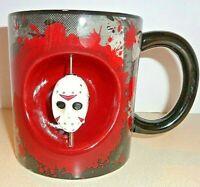 Friday The 13th Jason Voorhees Spinning Head Mug 20 Oz Halloween Coffee Tea New