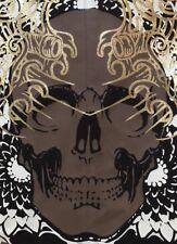 Halloween Skull Suit Jacket Mens Men Brooklyn Xpress Express Medium M Brown
