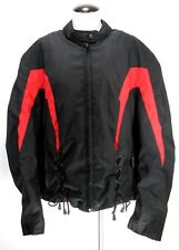 Nexgen - Motorcycle Jacket - Removable Liner - Black Red - Women's Size 4XL