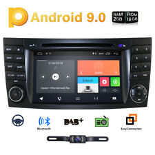 4-Core Android 9.0 Car Stereo DVD Radio GPS for Mercedes Benz E Class W211+Cam