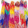 Unisex 10/20/50/100Pcs Rainbow Braid Strands Friendship Cords Handmade Bracelets