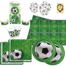 Fußball Football Partyset 109tlg. für 16 Kinder Teller Becher Servietten uvm.