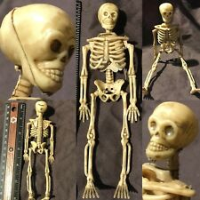 "Miniature Dollhouse LIFE LIKE BONES Human Skeleton 6"" inch 1/12 Figure Halloween"