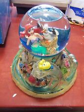 DISNEY ARIEL'S TREASURE TROVE THE LITTLE MERMAID SNOW GLOBE  WITH BOX