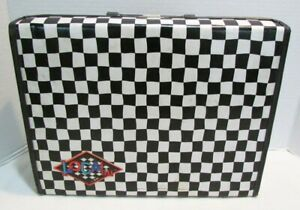 BMI LOCAL 1980's CHECKERBOARD STORAGE CARRYING CASE HOLDS 30 CASSETTE TAPES